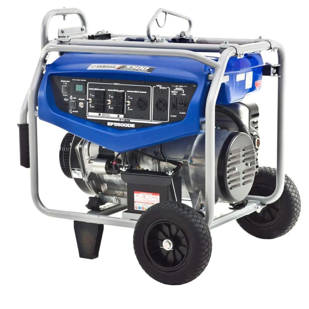 yamaha ef5500de 358cc 5 500 watt 120 240 volt dual voltage electric st generator factory outlet [ 1024 x 1024 Pixel ]
