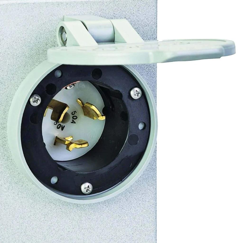 reliance pb50 50 amp 12 500 watt 120 240 volt non metallic power inlet generator factory outlet [ 1024 x 1024 Pixel ]