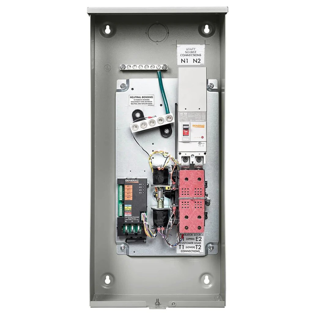 3 Pole Transfer Switch Wiring Diagram Generac Rxsw100a3 240 Volt 100 Amp Nema 3r Automatic Smart