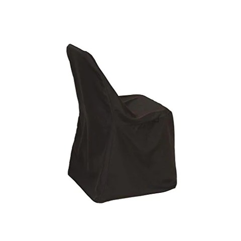 black chair covers for folding chairs beach towels your polyester fitted seat