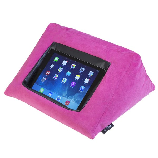 purple velvet sofa bed uk blue throws for sofas icushion ipad cushion pillow stand /holder pink ...