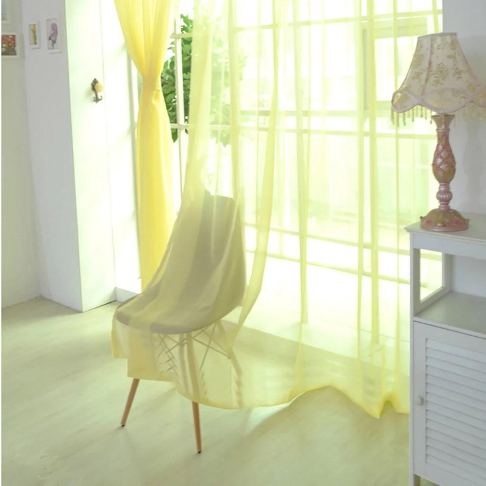voilage jaune pale rideau et voilage