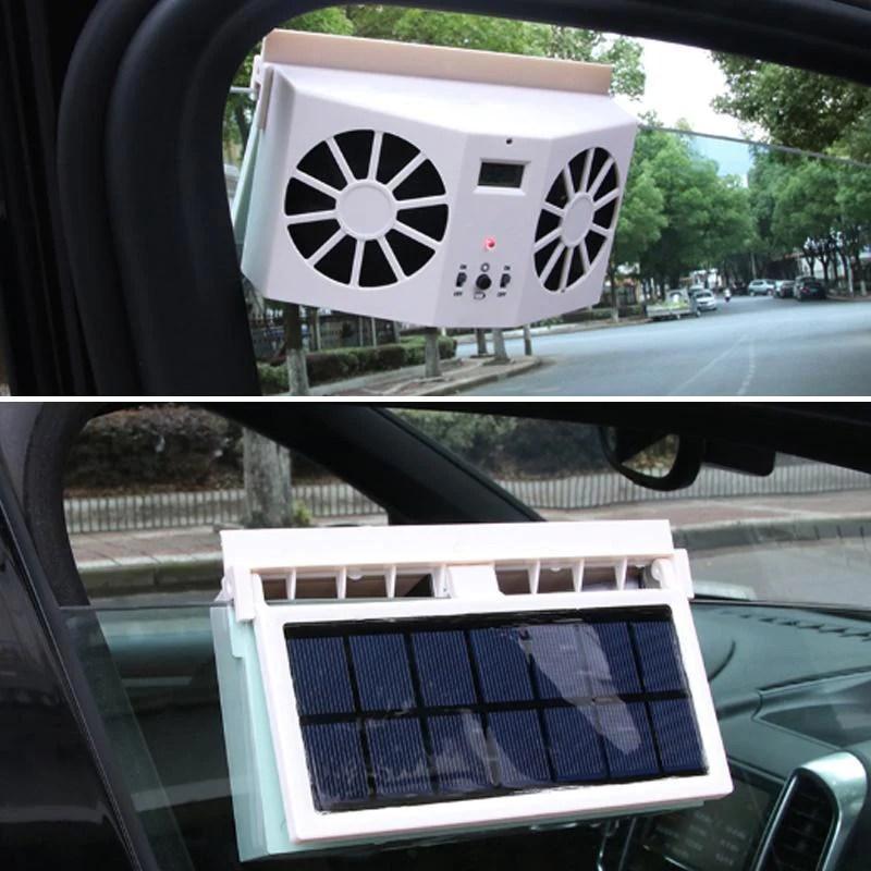 solar car exhaust fan