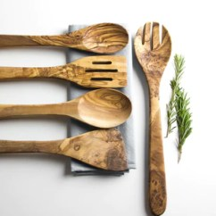 Kitchen Utensil Cabinets Nyc Traditional Olive Wood 5 Piece Set The Rustic Dish Ltd
