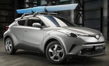 toyota chr kayak cradle roof rack accessory