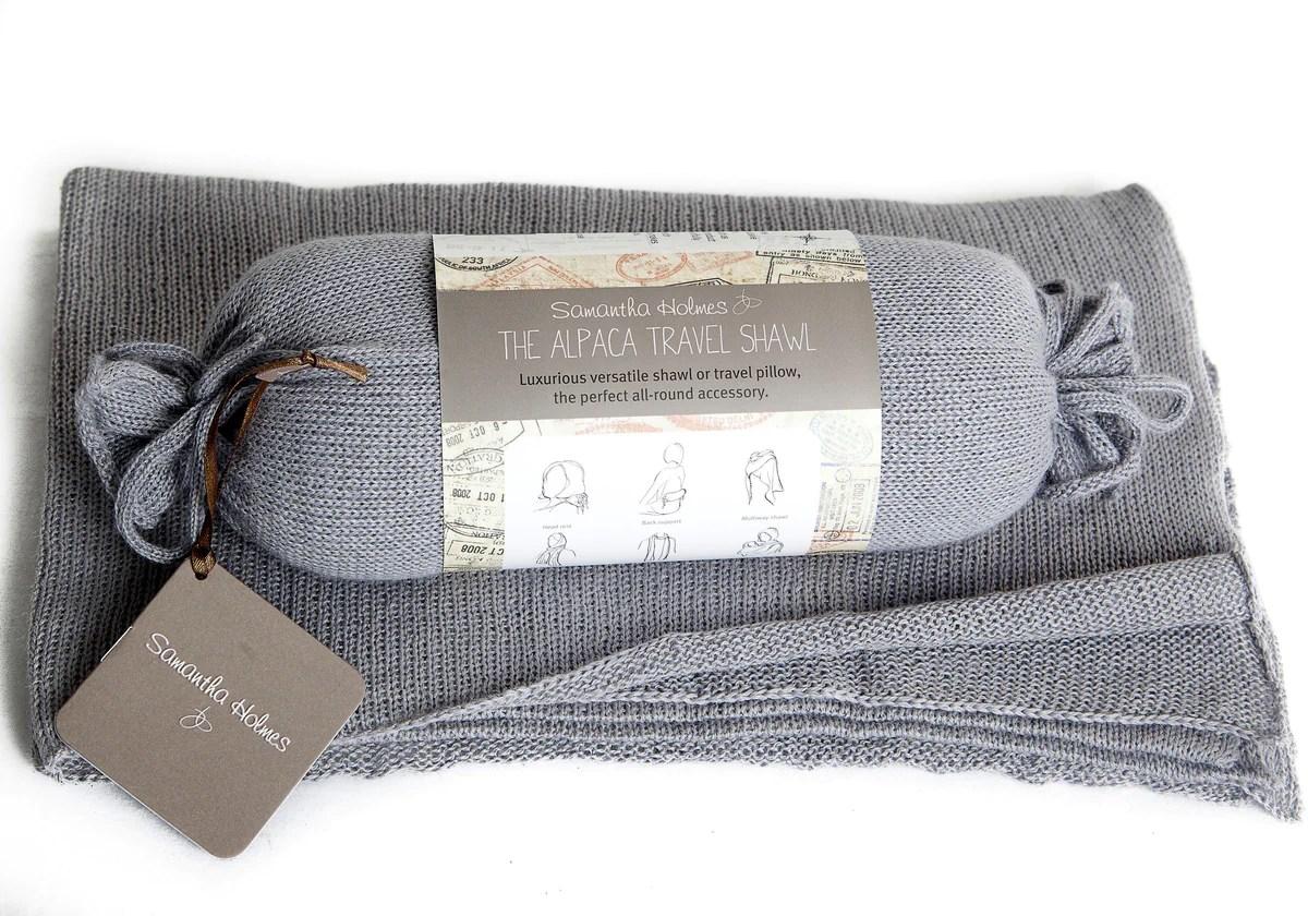 samantha holmes alpaca travel shawl annabel james