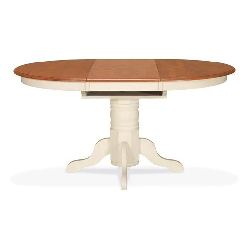 White Pedestal Table With Leaf