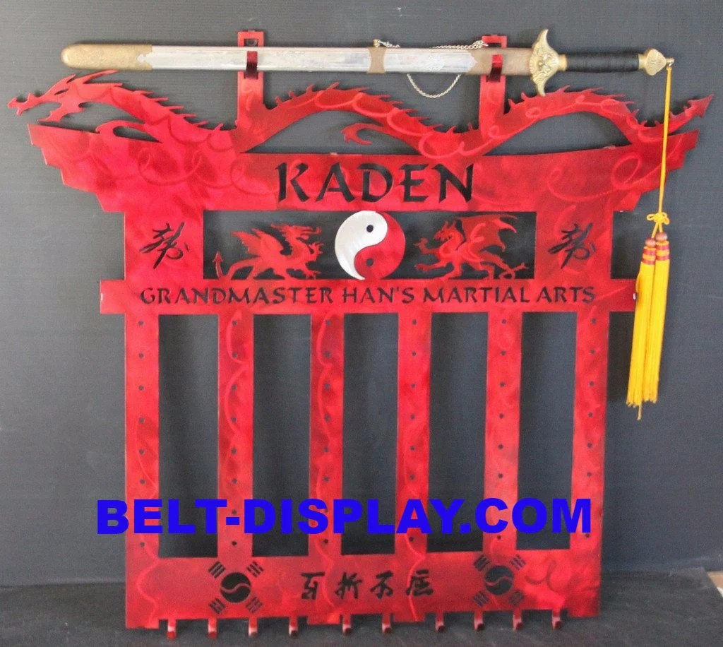 Martial Arts Belt Rack - Weapons Display Holder