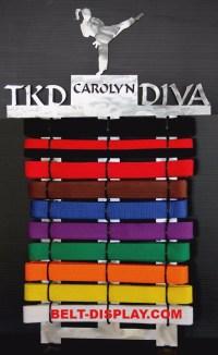 Belt display-Karate Belt Display-Personalized Taekwondo ...