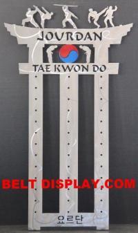 Karate Belt Display: Taekwondo Belt Display Rack: Martial ...