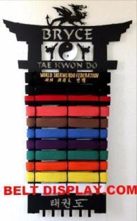 Taekwondo Belt Display Rack: Karate Belt Rack: Martial ...