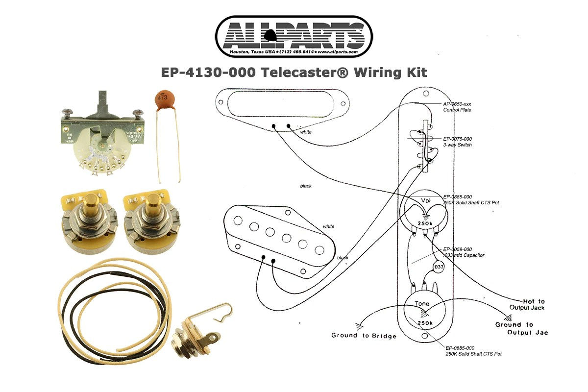hight resolution of ep 4130 wiring kit for telecaster