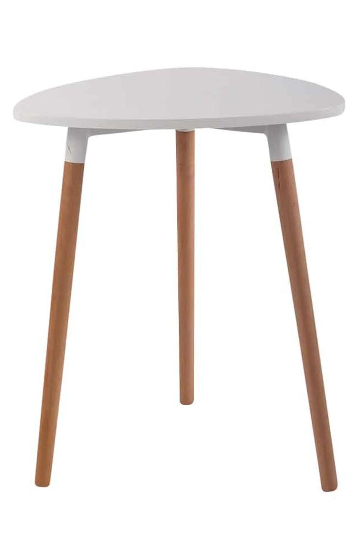 table de cuisine table d appoint en bois couleur blanc hauteur 75 cm o 60 cm tab10061