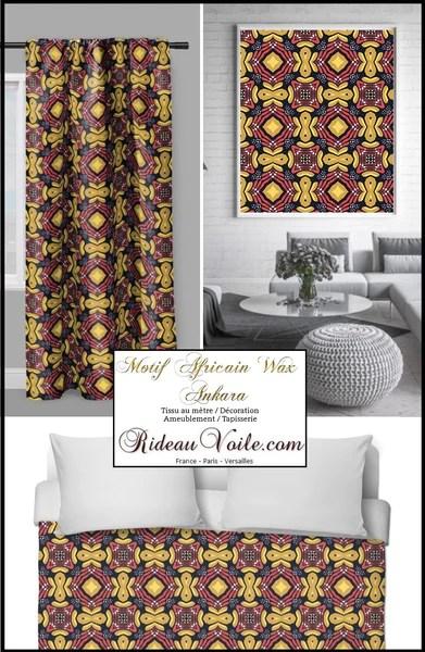 rideauvoile tendance africaine maison du rideau couette tissu africain au metre