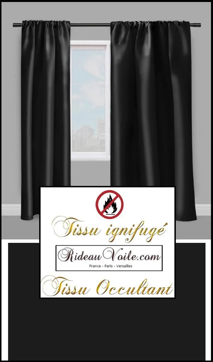 tissu non feu occultant noir rideaux boutique textile ignifuge au metr rideauvoile