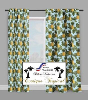 https rideauvoile com products motif ananas tropical exotique rideau couette tissu au metre