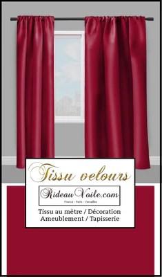 rideauvoile boutique tissu velours rouge sombre metre deco ameublement rideauvoile