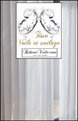 voilage tissu voile de coton uni transparent tres souple doux blanc