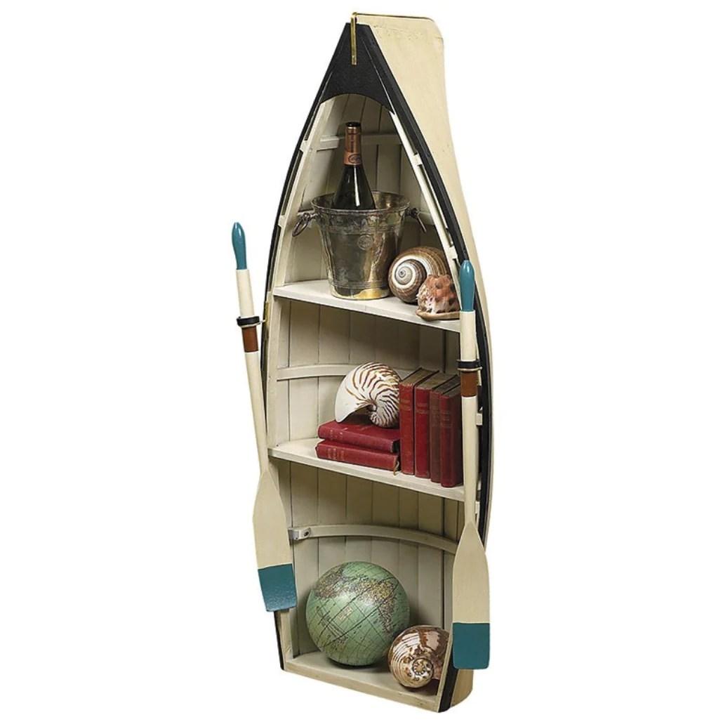 Authentic Models Dory Nautical Rowboat Bookcase Table