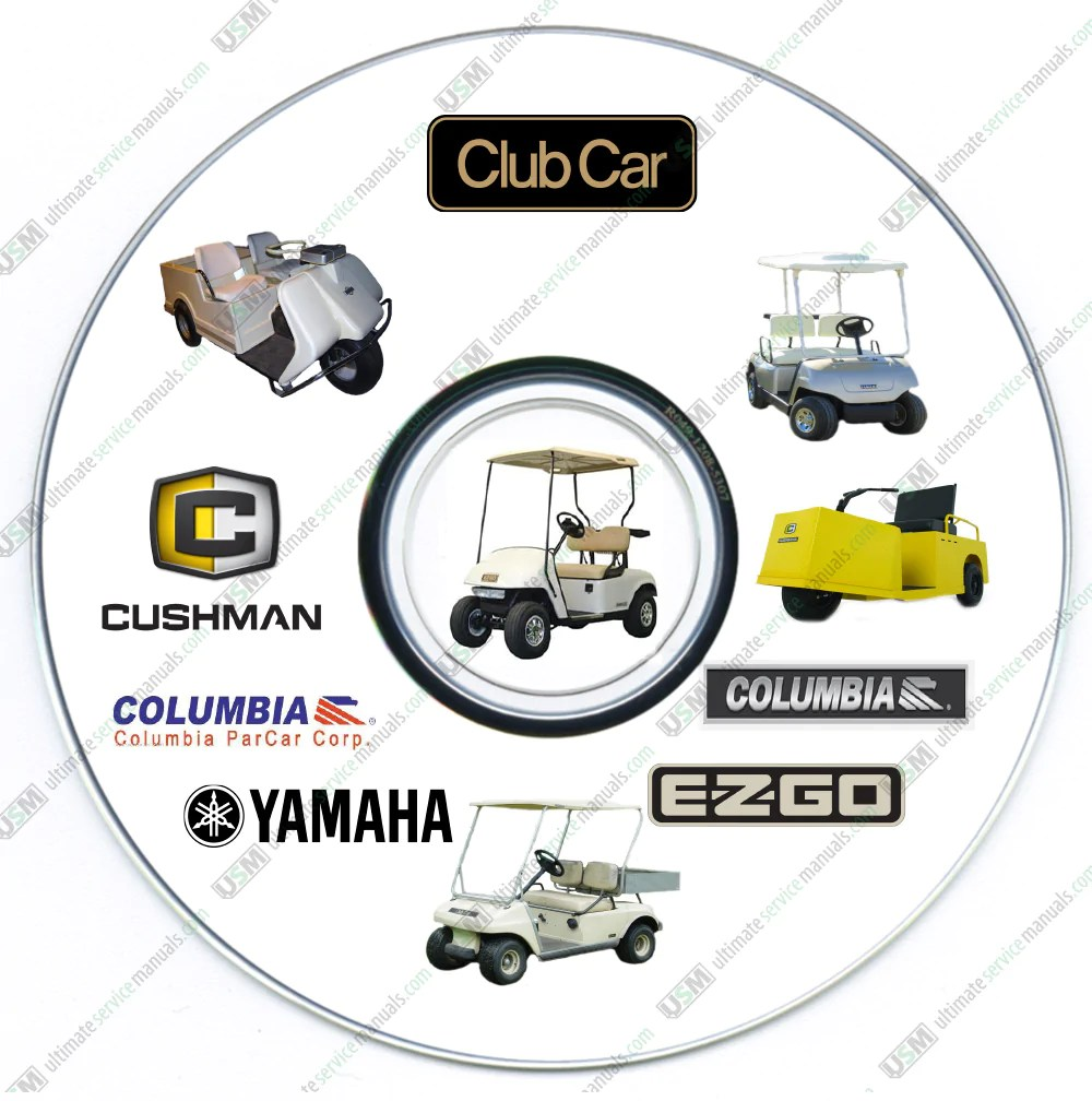 small resolution of ultimate club car columbia parcar golf car cart service workshop manual s on dvd