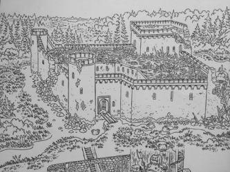 Village of Hommlet Original Art Mock Man Press