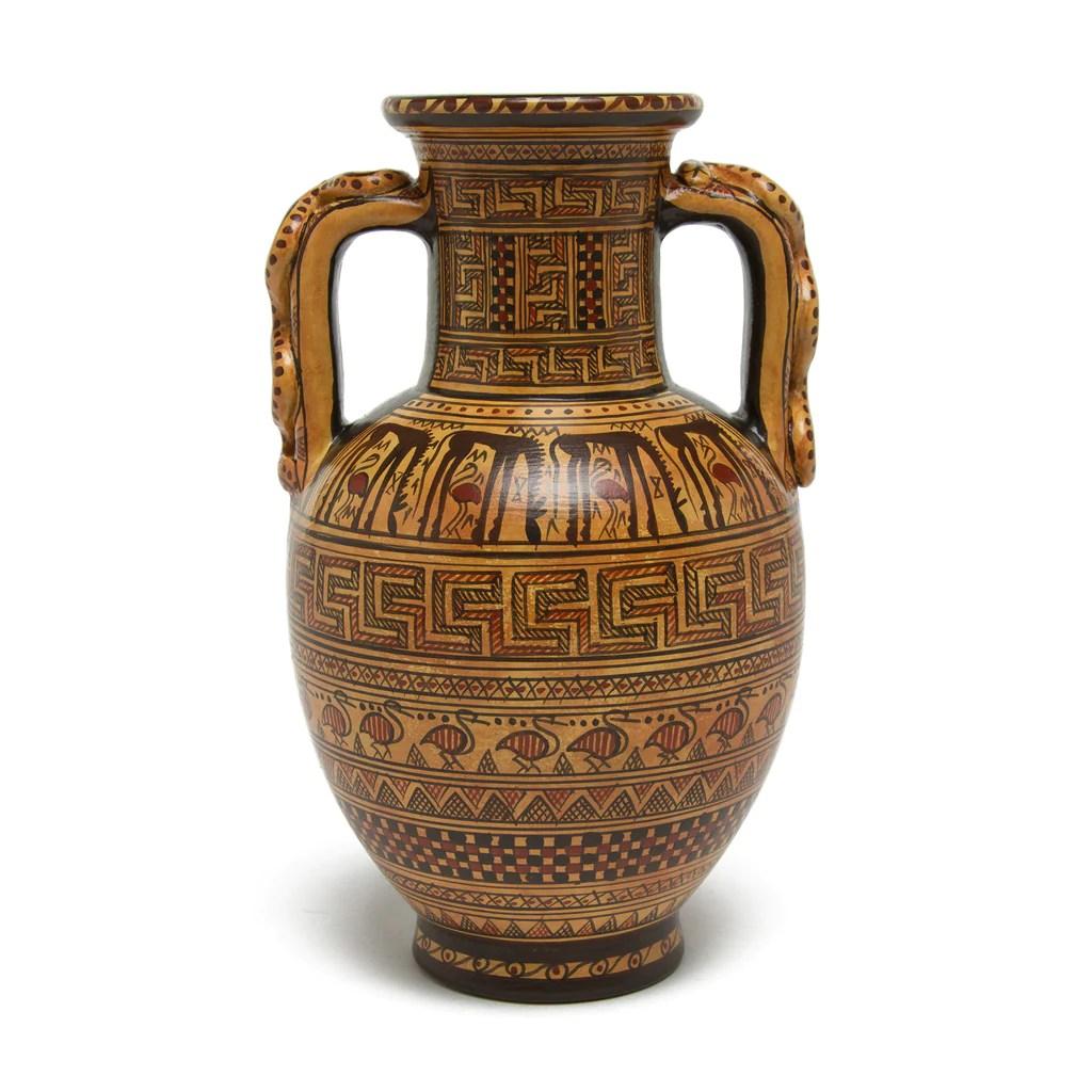 Greek Amphora Vase - Geometric Pattern Getty Store