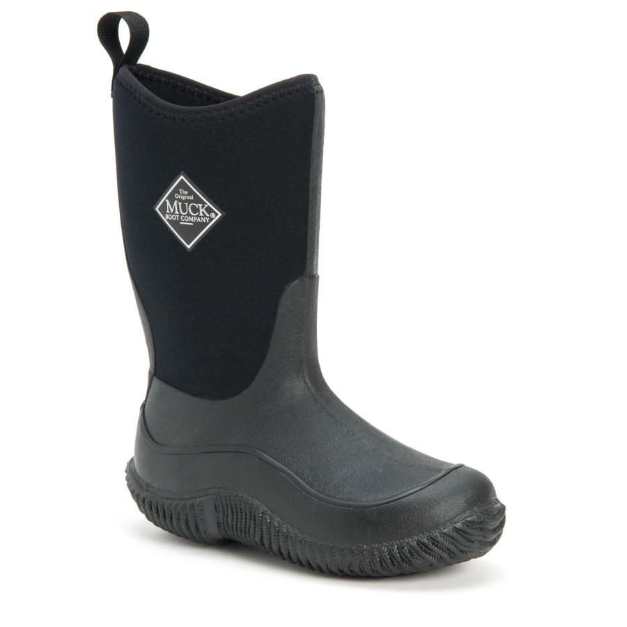 Kid's Hale Boots in Black | 100% Waterproof | Size Child 7 | Neoprene | The Original Muck Boot Company