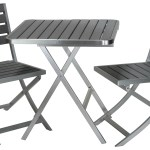 Maxwell Aluminum Outdoor Folding 3 Piece Set In Slate Grey Poly Resin Cortesihome