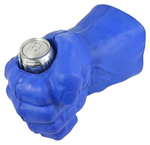 fairly odd novelties giant foam fist hand cooler novelty right hand blue