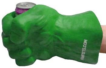 large foam fist beverage holder