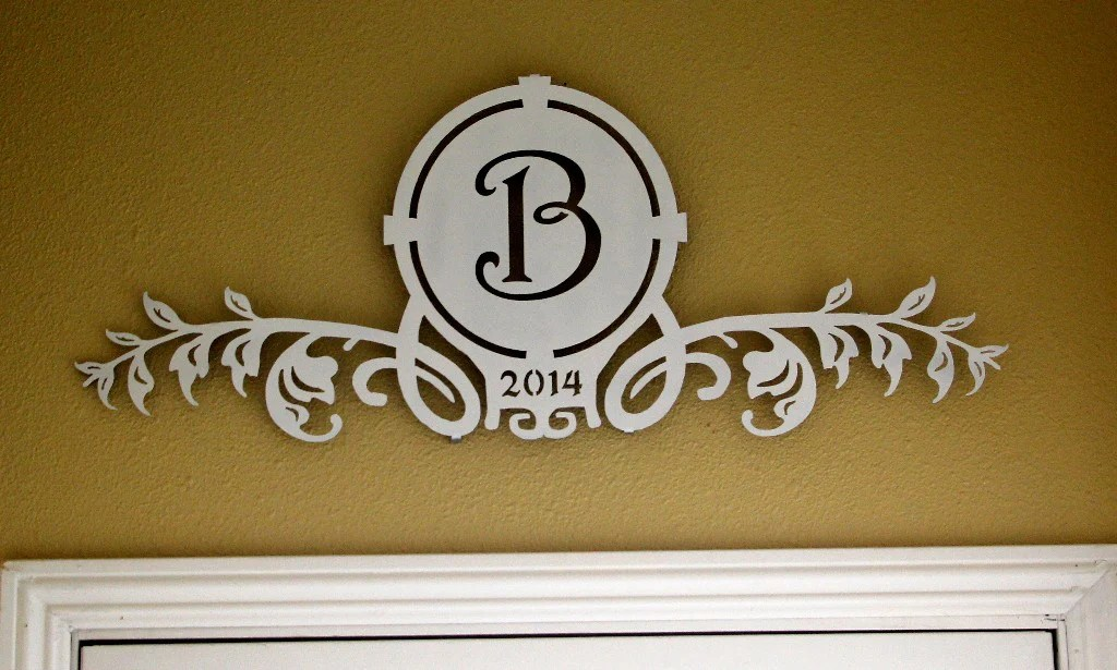 monogram wall plaque
