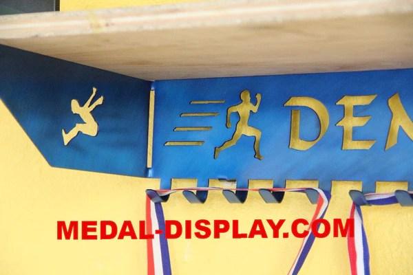 Track And Field Trophy Shelf Trophy Shelf Personalized Medal Display Medals Hanger