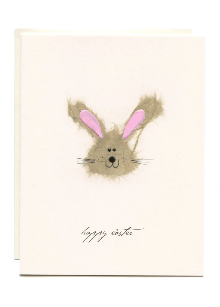Happy Easter Bunny Greeting Card Flaunt Cards