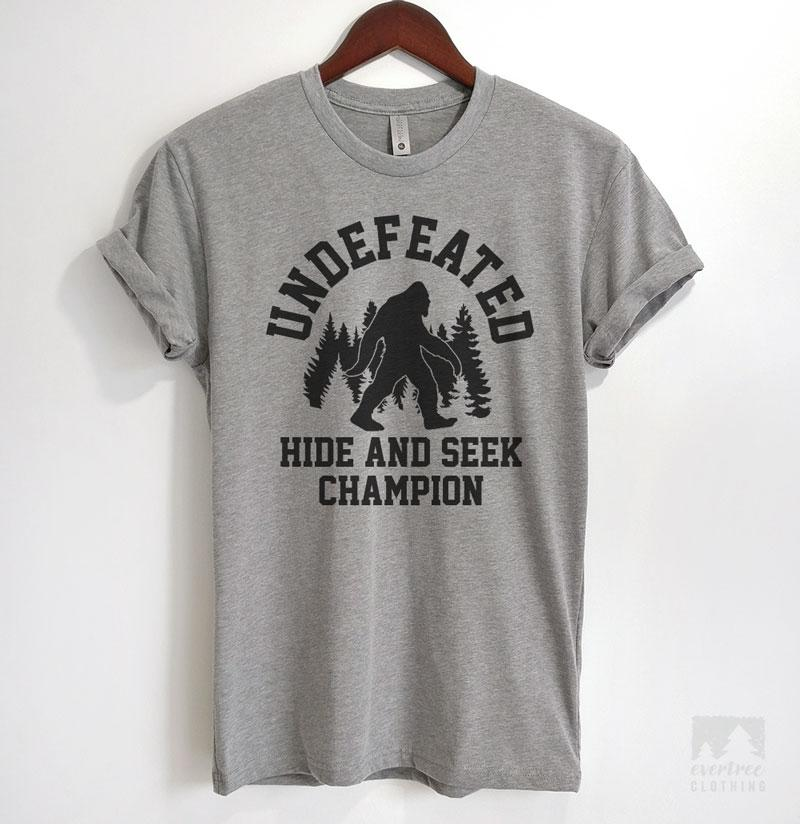 Undefeated Hide And Seek Champion T Shirt Or Tank Top