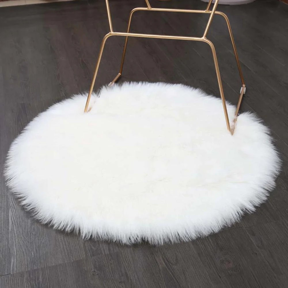 Sheepskin Chair Covers Luxury Round Faux Sheepskin Chair Cover Or Rug