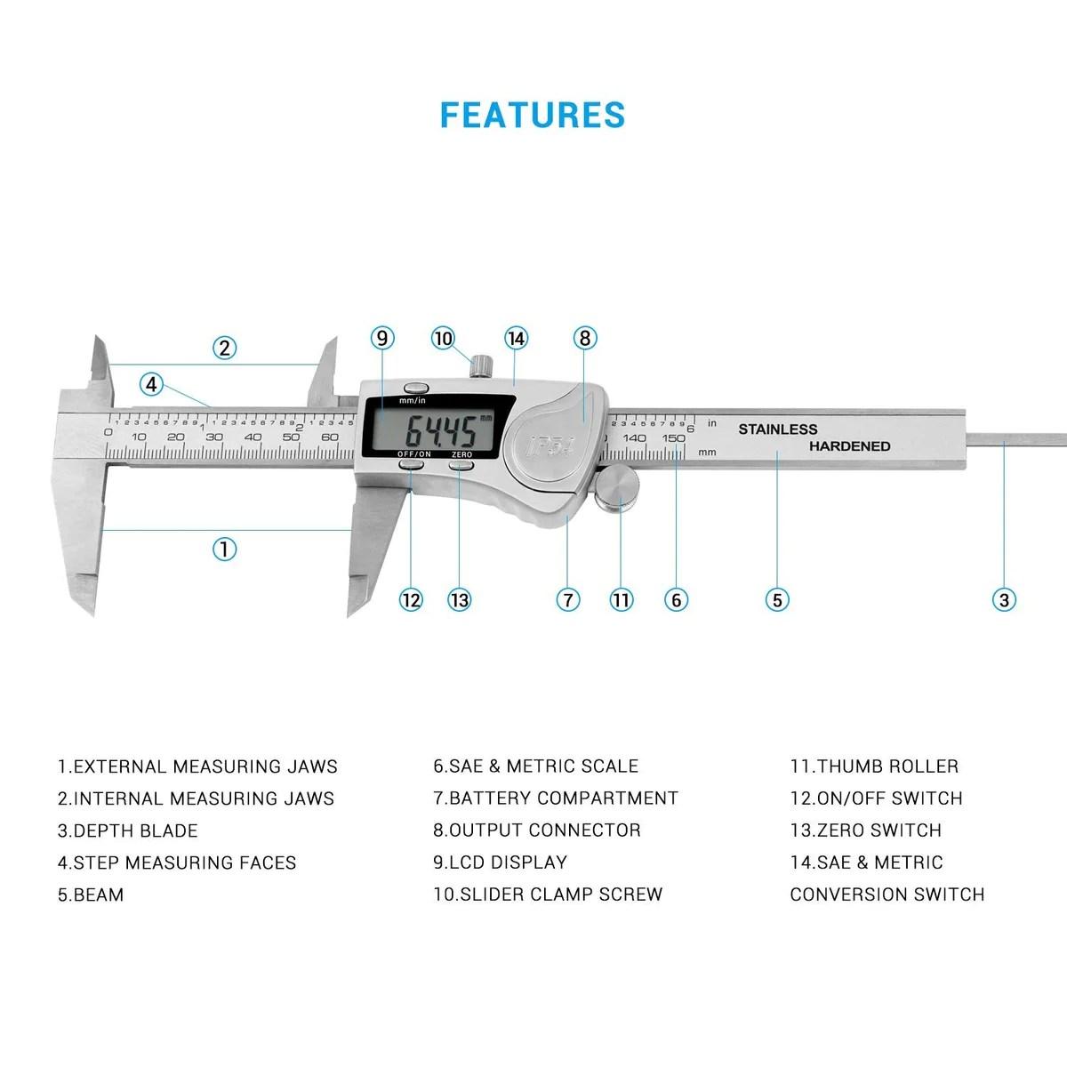 diagram of digital vernier caliper [ 1200 x 1200 Pixel ]
