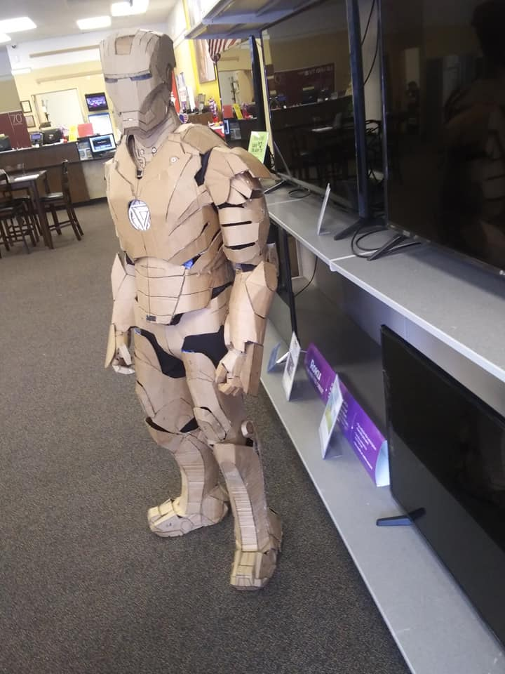Iron Man Cardboard : cardboard, 15-Year-Old, Wearable, Using, Cardboard, BOTWC