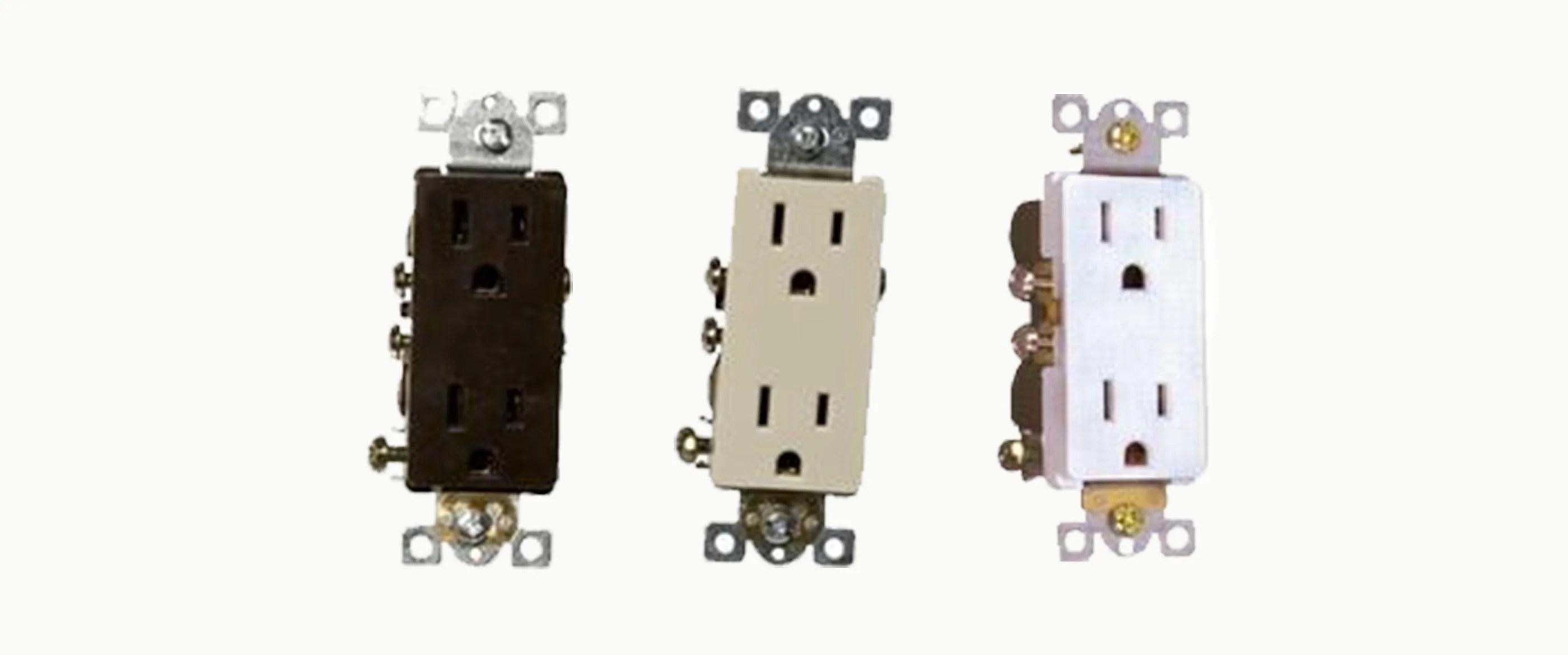 small resolution of decorative duplex receptacles