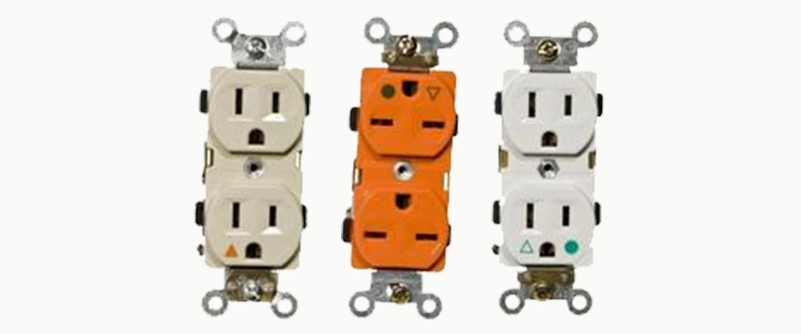 medium resolution of isolated ground decorative duplex receptacles