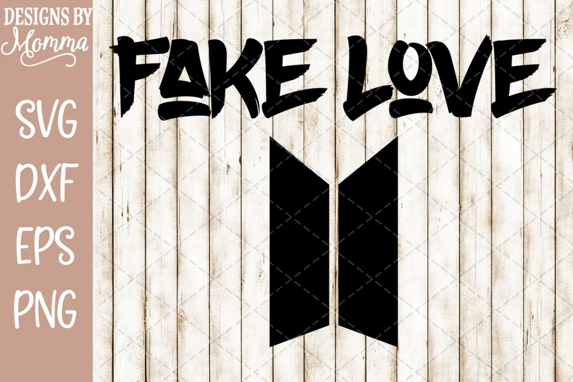 BTS Bangtan Fake Love SVG DXF EPS PNG - Designs by Momma