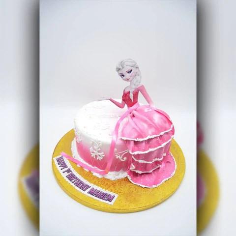 Frozen Elsa Cake Arabian Petals
