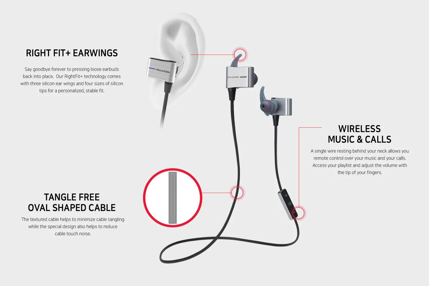 hight resolution of  water resistant bluetooth earbuds bt 110 earphones phiaton on jabra bluetooth wiring diagram