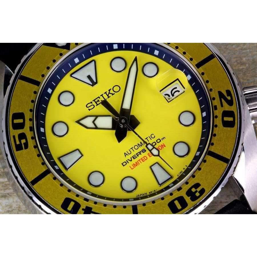 Seiko Prospex Sumo Yellow Diver Scuba Automatic Watch