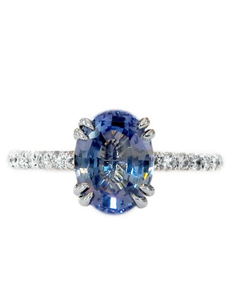 Bicolor Sapphire Engagement Ring
