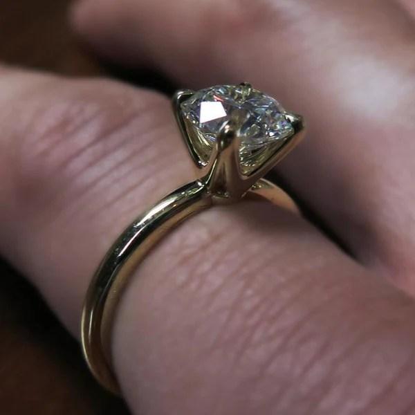 Talia Diamond Solitaire with Unique Diamond Accents  Dana Walden Bridal Unique Engagement
