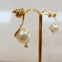 Australian South Sea Broome Pearl and diamond Earrings