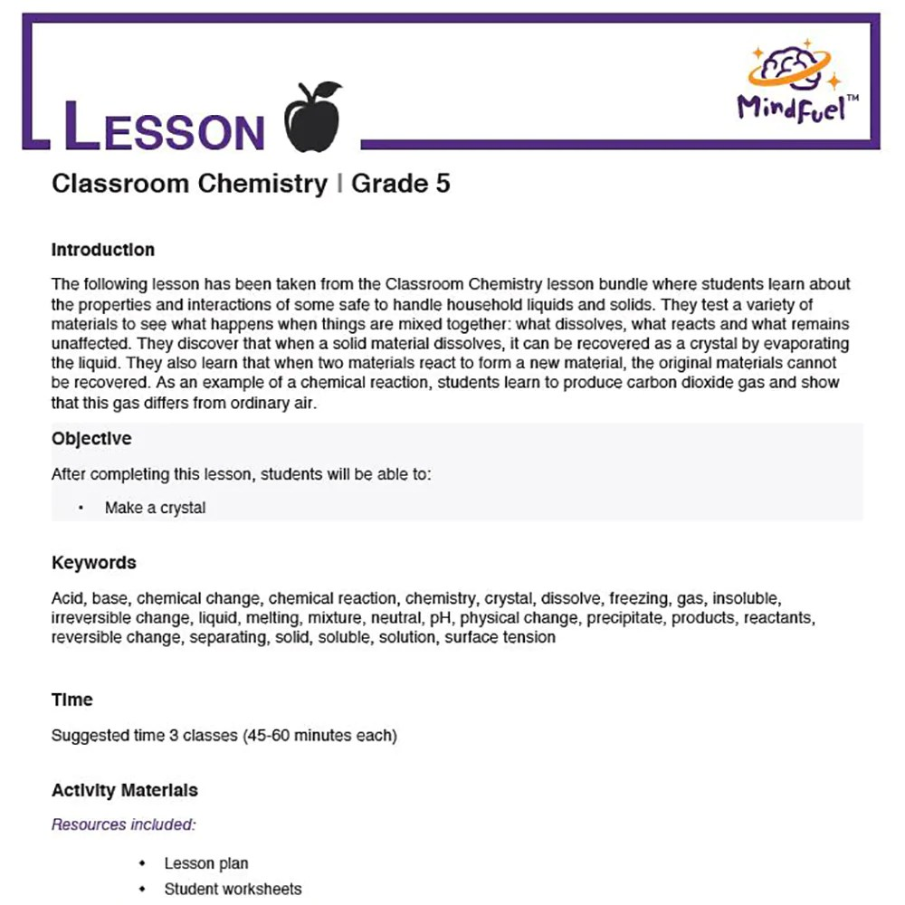 small resolution of Classroom Chemistry   Lesson 7 - Crystal Snowflakes - MindFuel STEM Store