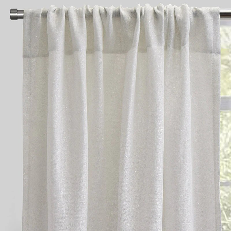 ziana set of 2 sheer curtain panels size 54x96 color ivory