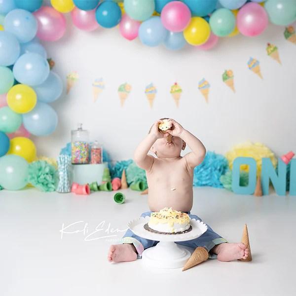 fox children balloons cake