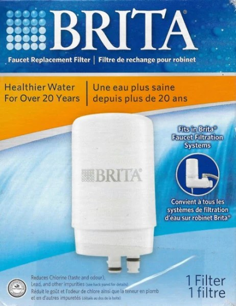 brita on tap faucet water filter system replacement filter white 1 count